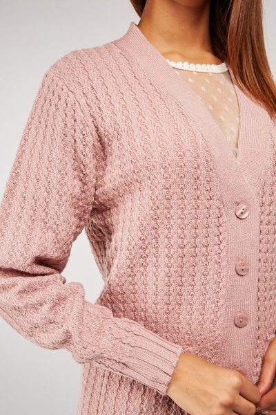 Twin Pocket Front Button Cardigan