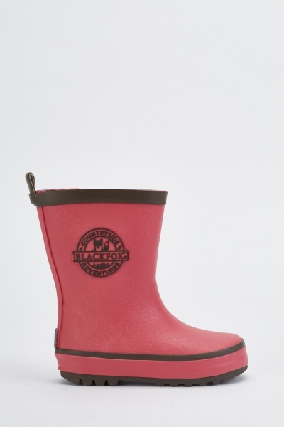 Kids Logo Side Wellington Boots
