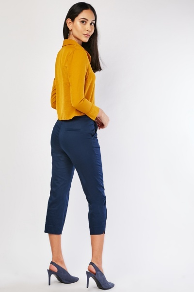 Navy Cigarette Trousers