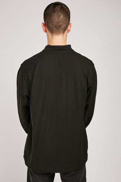 Long Sleeve Plain Polo Shirt