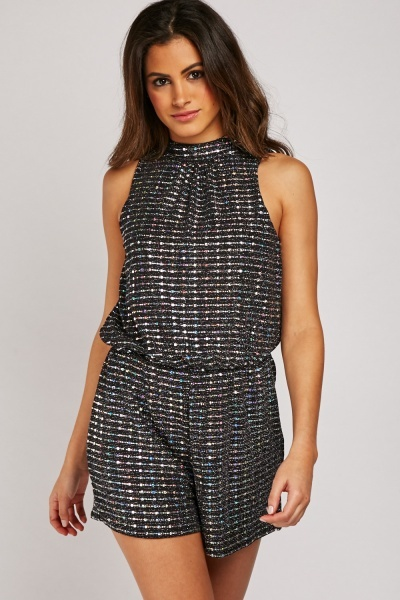 Iridescent Contrast Playsuit