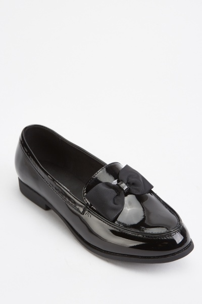 Bow Detail PVC Loafers