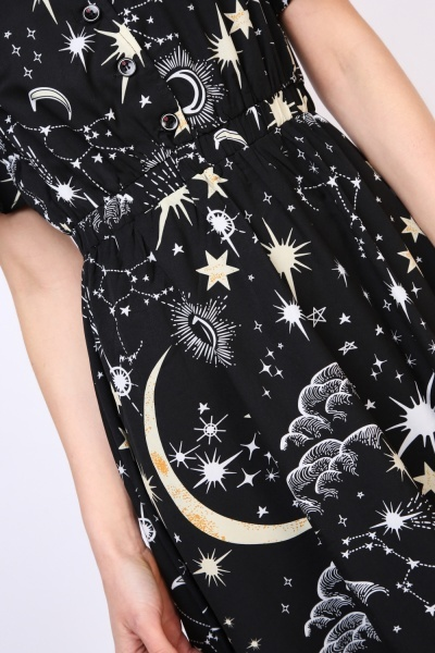 Night Sky Shirt Dress