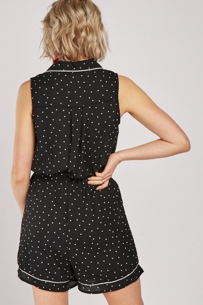 Polka Dot Button Up Playsuit