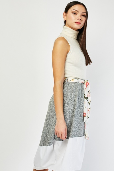 Speckled Midi Skirt
