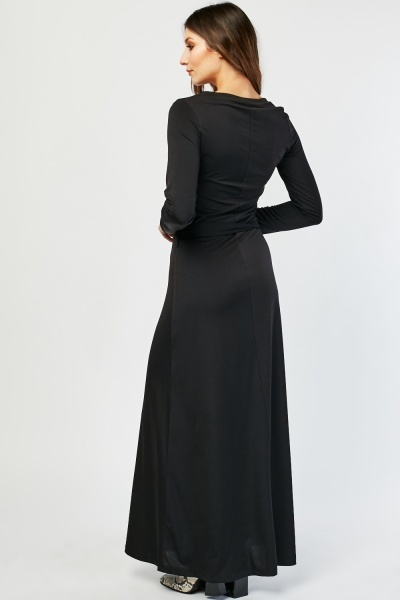 O-Ring Belted Maxi Dress