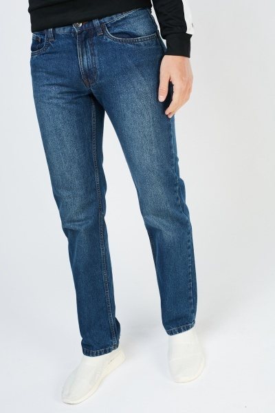 Regular Fit Dark Blue Jeans