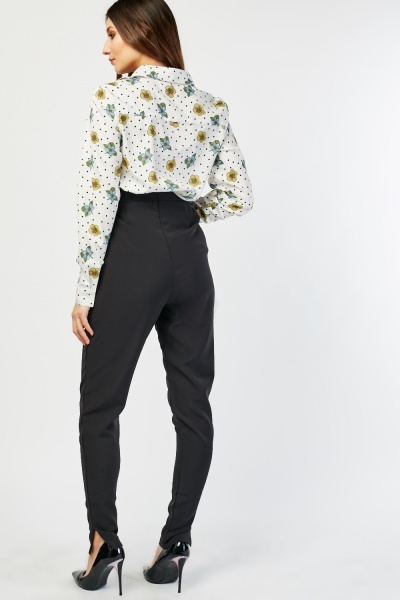 Tapered High Waisted Trousers