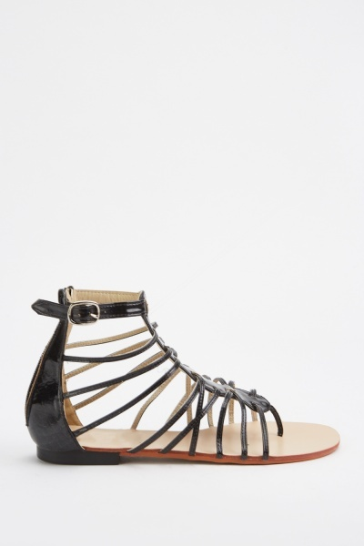 Multiple Strappy Gladiator Sandals
