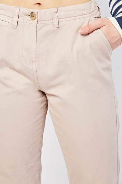 High Rise Tapered Chino Trousers