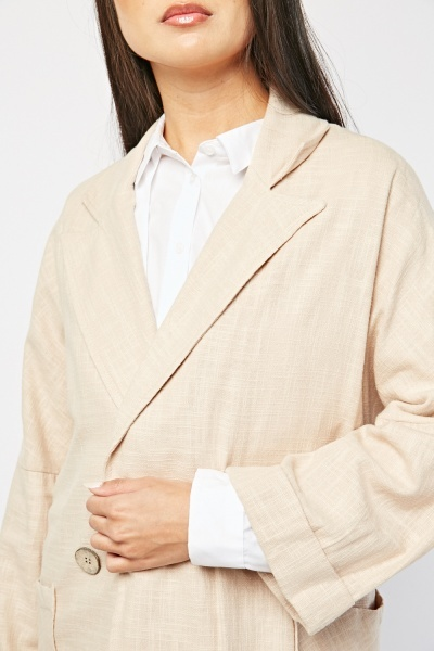 Batwing Sleeve Double Breasted Blazer