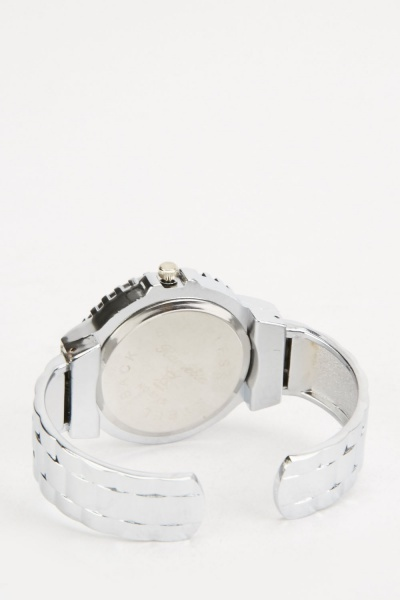 Encrusted Bangle Watch