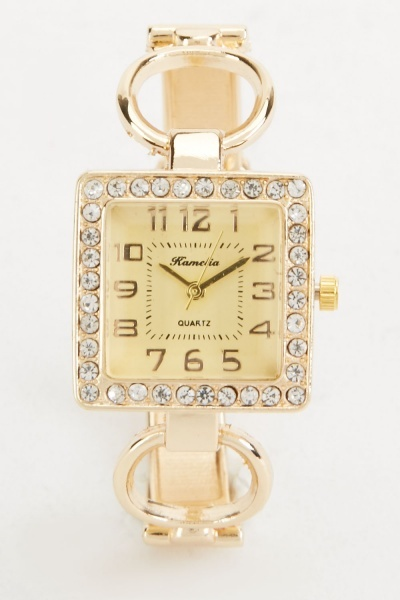 Square Face Bangle Style Watch