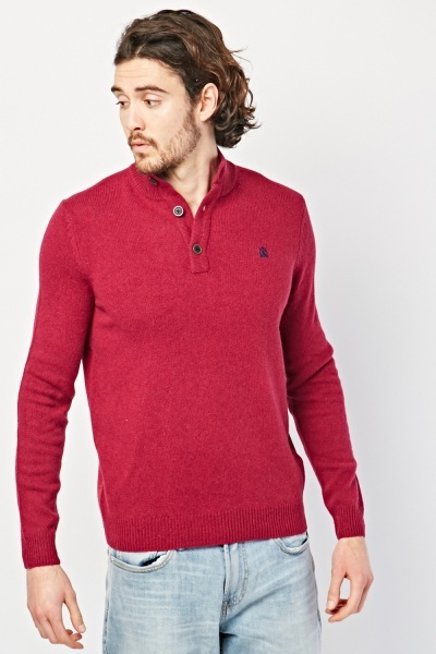 Button Front Knit Jumper