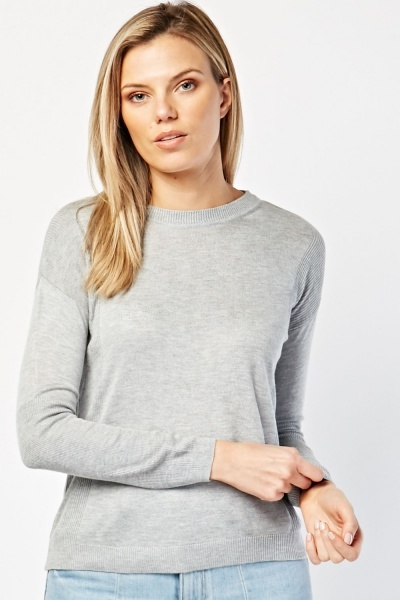 Ruched Panel Knit Sweater