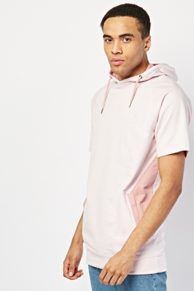 Short Sleeve Colour Block Hoodie
