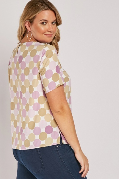 Short Sleeve Polka Dot Top
