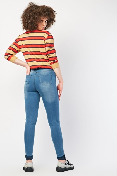 Tall Fit Rolled Up Hem Jeans