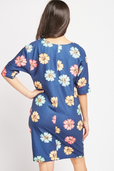 Flower Print Shift Dress