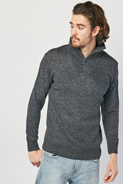 O-Ring Zipper Knit Jumper
