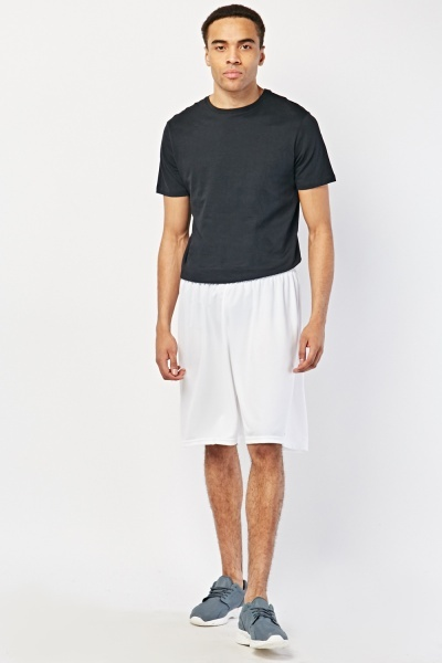 White Active Sports Shorts