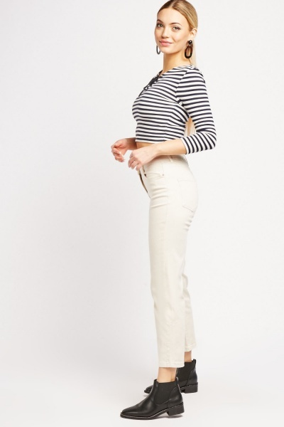 Soft Touch Crop Chino Trousers