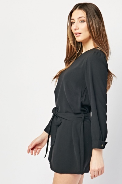 Belted Mini Shift Dress
