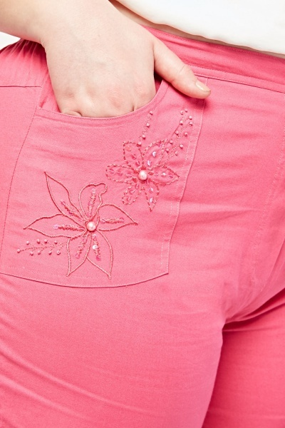 Embroidered Chino Trousers