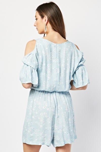 Printed Cold Shoulder Playsuit