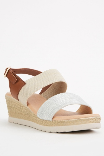 Chunky Strap Wedge Sandals