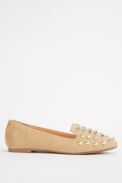 Multi Spike Trim Loafers