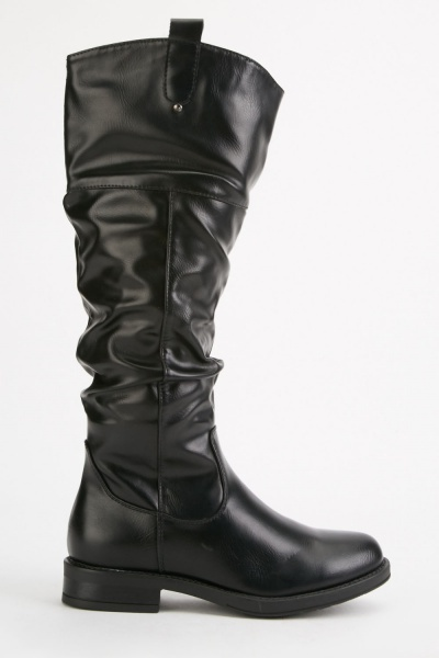 Slouchy Knee High Boots