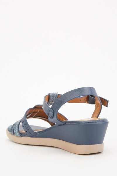 T-Strap Wedge Heel Sandals