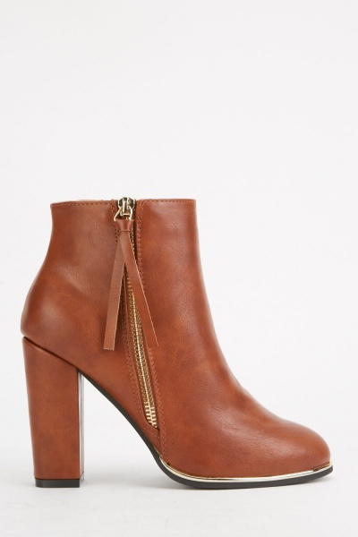 Tassel Side Ankle Boots