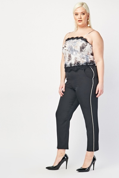 Encrusted Side Skinny Trousers