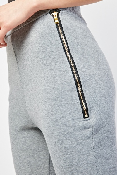 Faux Leather Detail Skinny Joggers