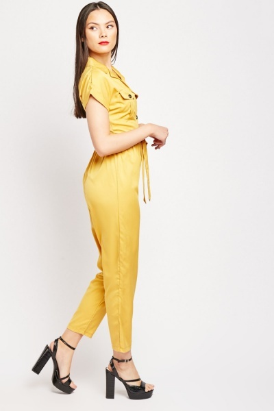 Flap Pocket Front Jumpsuit