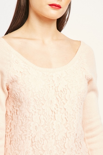Patterned Front Knit Jumper