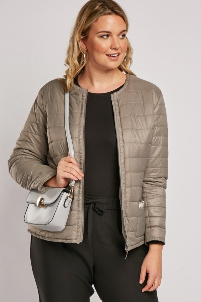 Decorative Trim Quilted Jacket