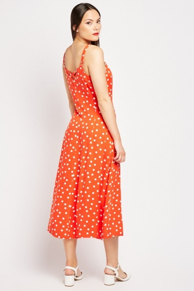 Polka Dot Midi Sun Dress