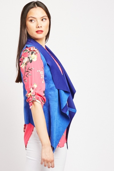 Sleeveless Suedette Jacket