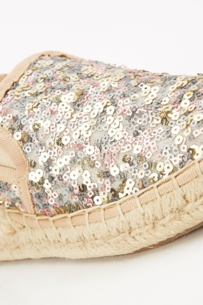 Contrasted Sequin Espadrilles