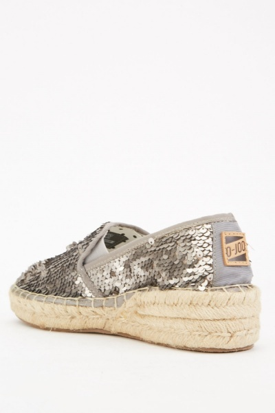 Heavily Sequin Espadrilles