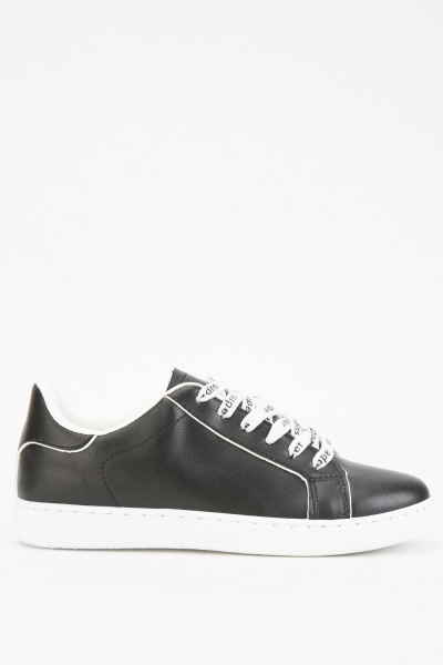 Printed Lace Up Plimsolls