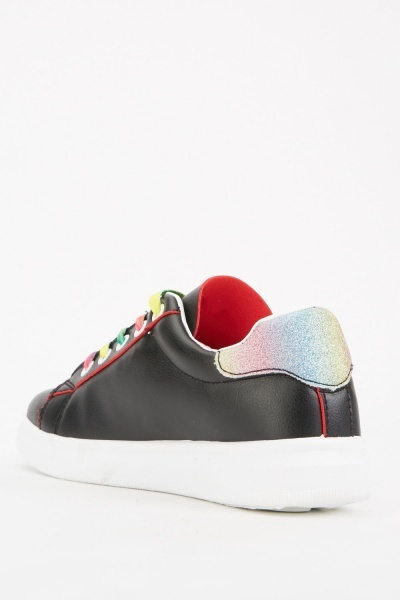Rainbow Lace Up Trainers