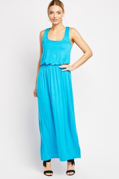 Pack Of 2 Plain Scoop Neck Maxi Dresses