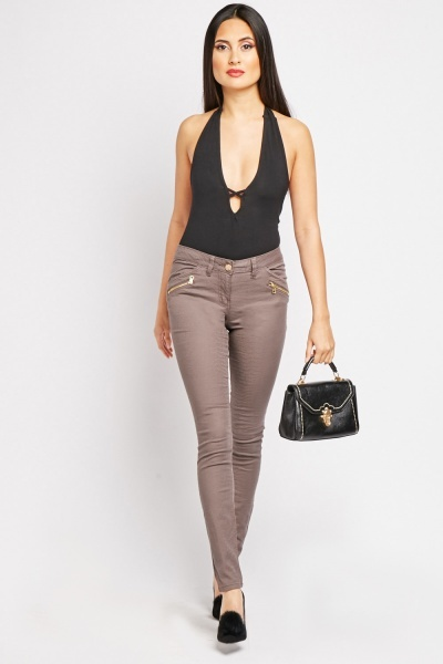 Textured Mauve Trousers