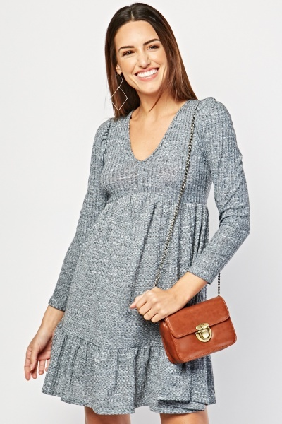 Two Tone Textured Dress