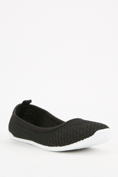 Mesh Patterned Flat Shoes