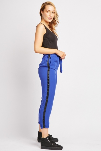 Lightweight Striped Side Trousers